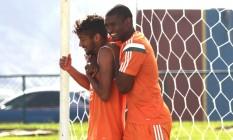 Crias de Xerém, Gustavo Scarpa e Marlon foram dois dos destaques do Fluminense em 2015 Foto: Divulgação