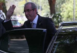 O presidente da Câmara afirmou que pedido de impeachment se baseia apenas nas contas de 2015 Foto: André Coelho / Agência O Globo