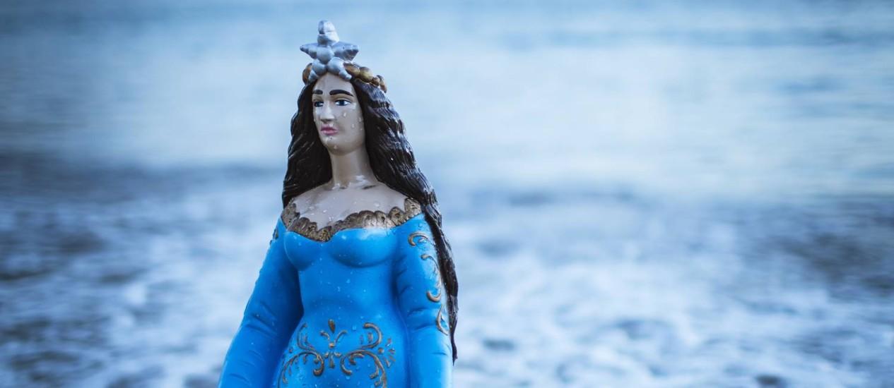Iemanjá. Rainha do mar transcende religião e é cultuada nas artes e na moda Foto: Fernando Lemos / Agência O Globo