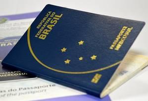 Passaporte entregue pela Casa da Moeda Foto: Divulgação / Divulgação