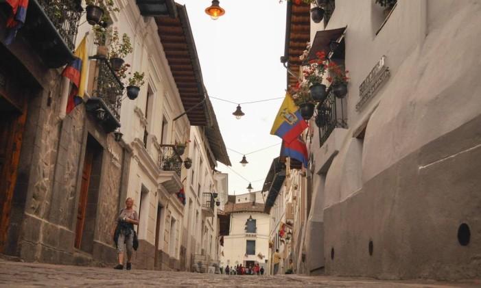 Calle La Ronda, no centro histórico de Quito Foto: Divulgação