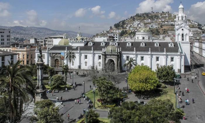 Plaza Grande, no Centro Histórico de Quito, no Equador Foto: Divulgação