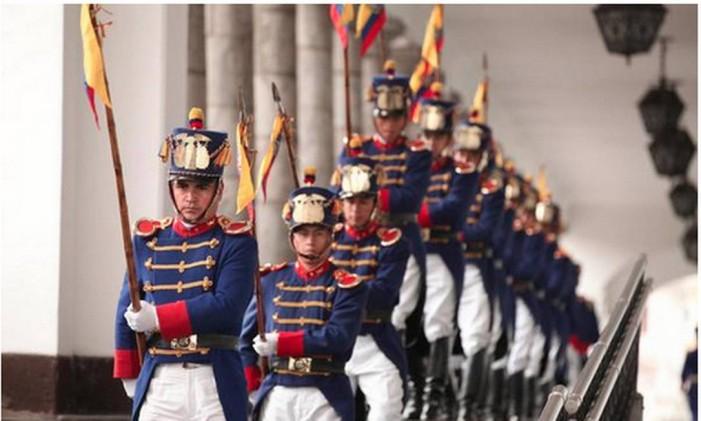 Troca de guarda em Quito, no Equador Foto: Divulgação