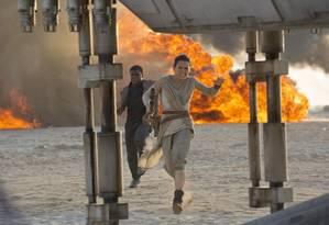 Daisy Ridley em 'Star Wars: O despertar da Força' Foto: Divulgação