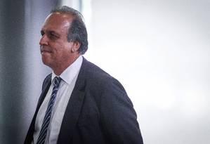 O governador do Rio de Janeiro Luiz Fernando Pezão e cobrou a atualização da tabela do Sistema Único de Saúde (SUS) durante reunião de governadores em Brasília Foto: ANDRE COELHO/arquivo / Agência O Globo