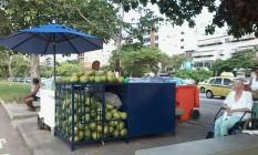 Em ordem. Barracas de coco agora tem que seguir uma padronização Foto: Divulgação/subprefeitura da ZS