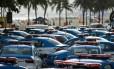 Patrulhamento. Carros da PM que serão usados hoje durante o esquema especial de policiamento do réveillon