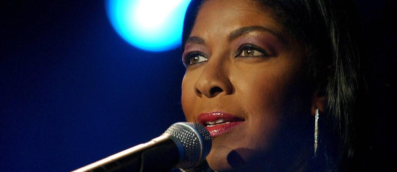 Natalie Cole em 2003, no Festival de Montreux, na Suíça Foto: Martial Trezzini / AP