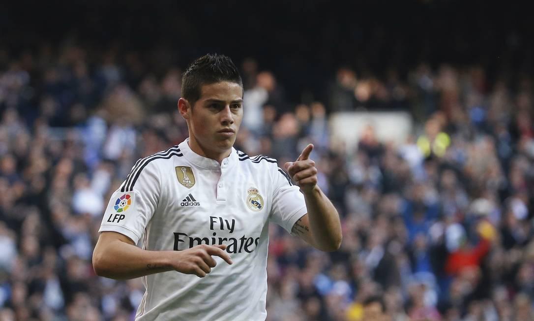 Uma das revelações da Copa do Mundo de 2014, James Rodríguez é titular da seleção colombiana desde 2011. Joga no Real Madrid, e tem 24 anos Juan Medina/Reuters
