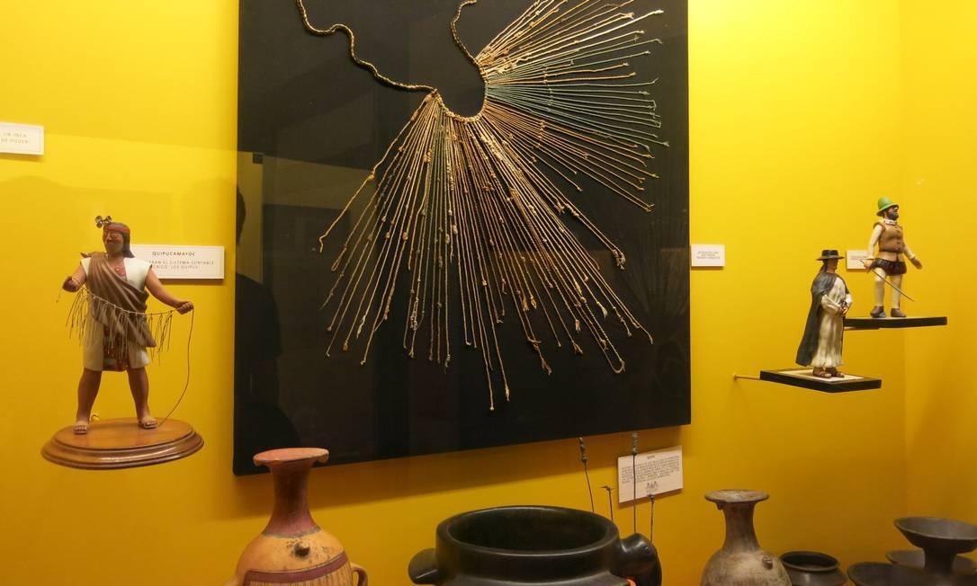 Objetos incas são exibidos no Museu Colchagua Foto: Cláudia Meneses / O Globo