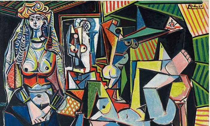 Trecho de 'Les Femmes d'Alger (Versão 'O')', de Picasso Foto: Reprodução