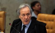 O ministro Ricardo Lewandowski, no plenário do Supremo Tribunal Federal Foto: Givaldo Barbosa / Agência O Globo / 28-5-2014