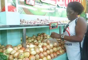 Inflação: preço da cebola em alta Foto: Ivete Silva