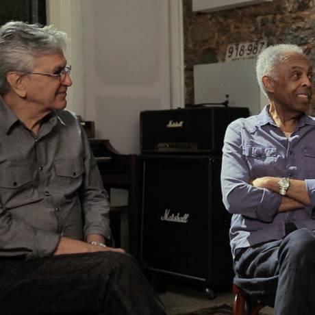 Caetano Veloso e Gilberto Gil Foto: Reprodução