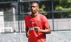 Zagueiro Juan durante treino na Gávea Foto: Divulgação