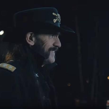 Lemmy em comercial de leite Foto: Reprodução