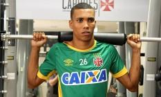Madson durante teste físico nesta sexta, em São Januário Foto: Divulgação