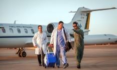 Avião da FAB transportou coração de Jaraguá do Sul (SC) a Brasília, em 4 de agosto de 2015. A distância é de 1,5 mil quilômetros. Um homem de 42 anos recebeu o coração de um doador de 16 anos. Foto Cabo André Feitosa/Força Aérea Brasileira. Foto: Andre Feitosa / Andre Feitosa/04-08-2015
