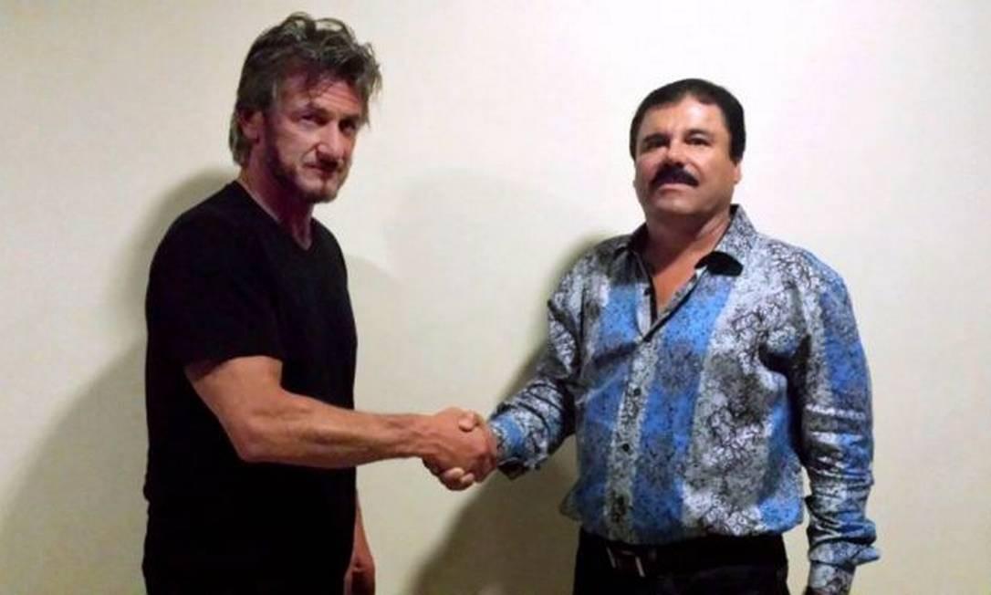 Sean Penn e El Chapo: encontro secreto em uma selva Foto: Reprodução