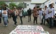 Funcionários do Rocha Faria fazem protesto em Campo Grande