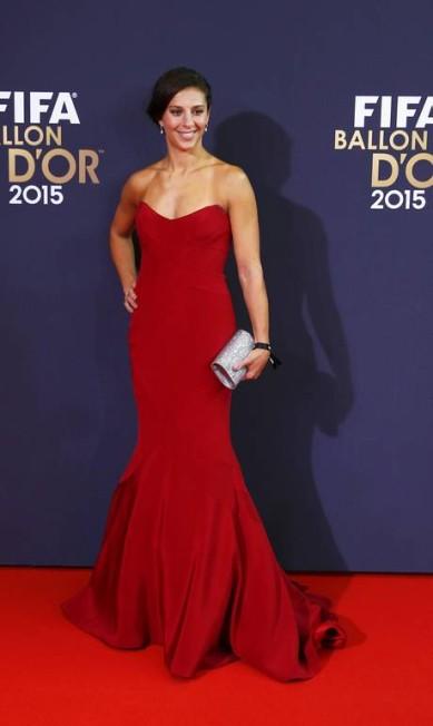 Indicada a jogadora do ano, a americana Carli Lloyd, do Houston Dash, apostou no vermelho ARND WIEGMANN / REUTERS
