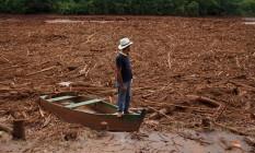 Rompimento de barragem destruiu distrito de Bento Rodrigues, em Mariana, Minas Gerais Foto: Daniel Marenco / Agência O Globo/09-11-2015