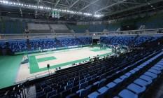 100% pronta. Arena Carioca 1 é apresentada e aprovado por atletas Foto: Domingos Peixoto / Domingos Peixoto
