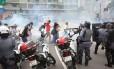 Bombas foram lançadas contra manifestantes