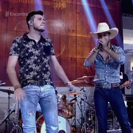 A dupla Bruno e Barreto no 'Encontro' Foto: Reprodução