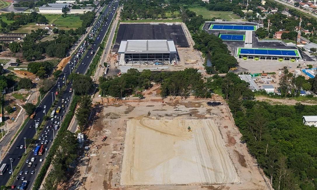 O Centro Olímpico de hóquei sobre a grama Divulgação/Prefeitura do Rio