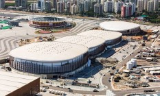 Imagens divulgadas nesta quarta-feira pela prefeitura do Rio mostram a evolução das obras nos equipamentos olímpicos Foto: Divulgação/Prefeitura do Rio