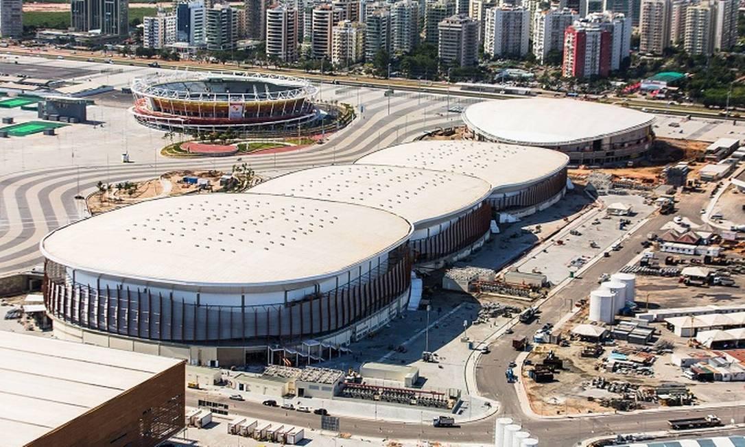 Imagens divulgadas nesta quarta-feira pela prefeitura do Rio mostram a evolução das obras nos equipamentos olímpicos Divulgação/Prefeitura do Rio