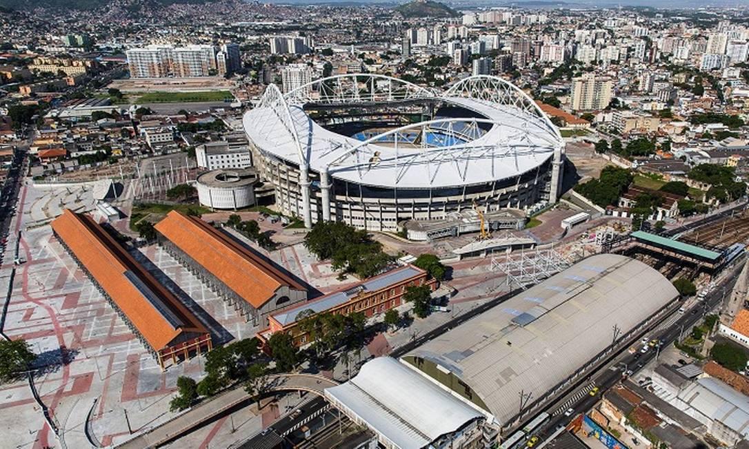 O Engenhão, que será palco das competições de atletismo nas Olimpíadas Divulgação/Prefeitura do Rio