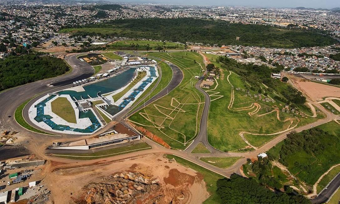 O Parque Radical, onde serão disputadas as provas de canoagem slalom e de mountain bike Divulgação/Prefeitura do Rio