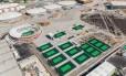 O Centro de Tênis que está sendo construído no Parque Olímpico. Prefeitura do Rio rompeu com o consórcio