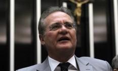 O presidente do Senado, Renan Calheiros Foto: Givaldo Barbosa - 17/12/2015 / Agência O Globo