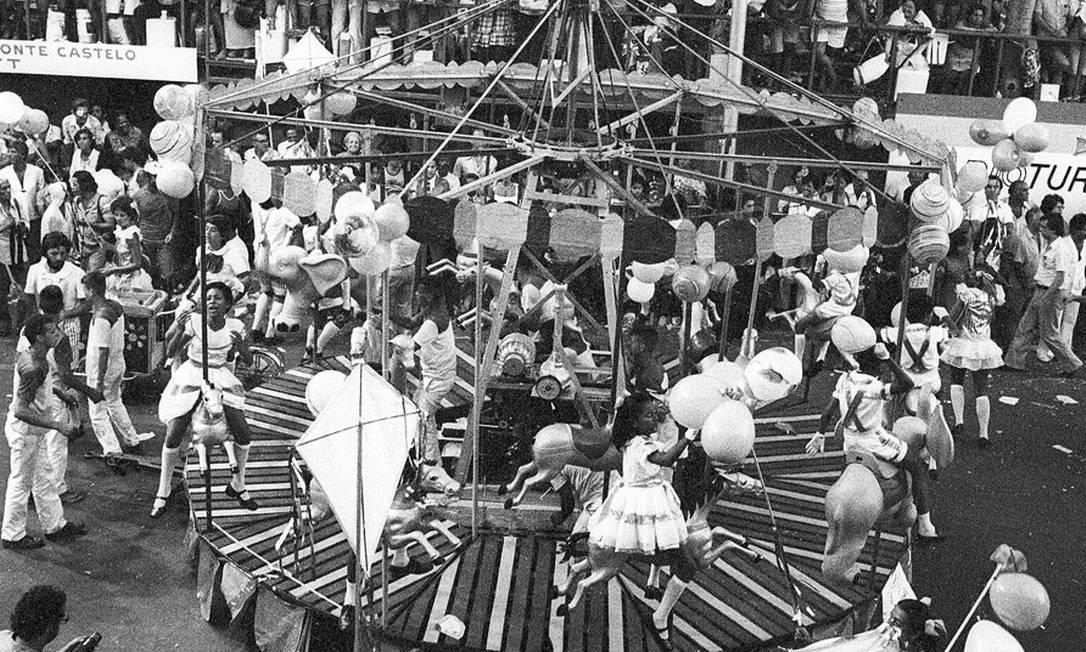 O parque de diversões lembrou o lazer da criançada Eurico Dantas / Agência O Globo