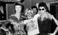 David Bowie, Iggy Pop e Lou Reed em foto de 1972