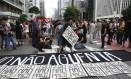 Protesto do Movimento Passe Livre na Avenida Paulista no dia 12 Foto: Marcos Alves / Agência O Globo / 12-1-2016