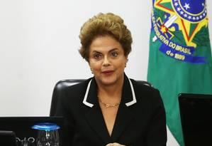 A presidente Dilma Rousseff cumpre agenda no Palácio do Planalto. Foto: Ailton de Freitas / Agência O Globo
