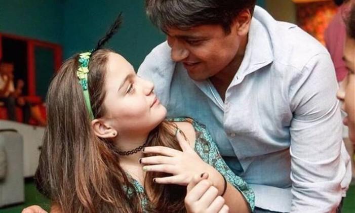 Pedro Paulo publicou uma foto da filha Manuela, no aniversário dela Foto: Reprodução