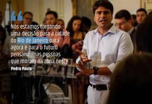 Em mais uma mensagem nas redes sociais, Pedro Paulo fala sobre a incorporação dos hospitais estaduais à rede municipal Foto: Reprodução