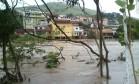 O Rio Paraíba do Sul chegou a mais de 4 metros de altura e transbordou Foto: Glauber Ribeiro/ Arquivo Pessoal