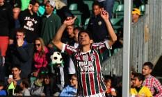 Magno Alves comemora o primeiro gol do Fluminense na temporada Foto: Divulgação Fluminense/Nelson Perez