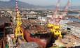 Navio da Petrobras em adaptação para operar no pré-sal