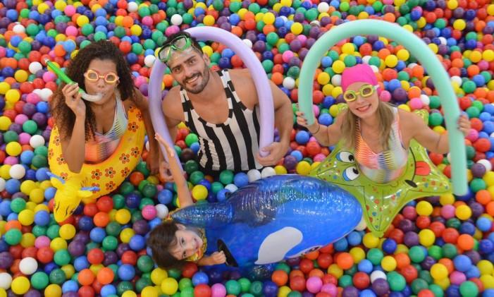 Piscina de bolinhas e Aqualoucos Foto: Divulgação