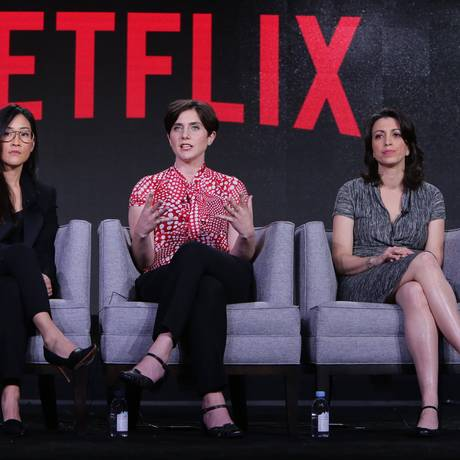 As diretoras da série documental Making a murderer, da Netflix, em painel nos EUA Foto: Divulgação