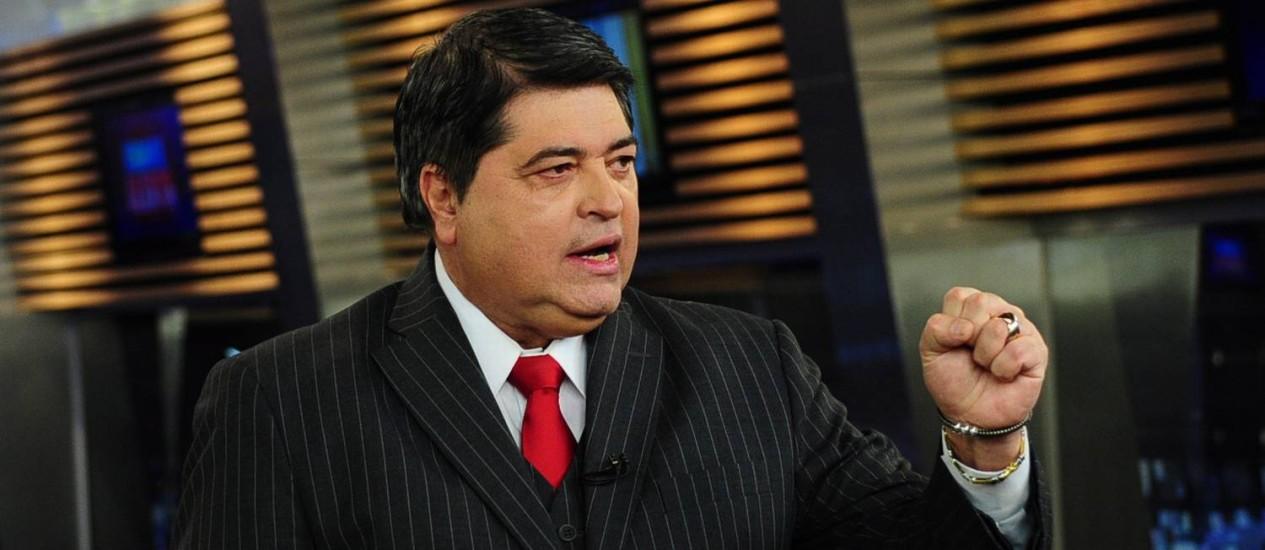 O apresentador José Luiz Datena Foto: Divulgação / Agência O Globo