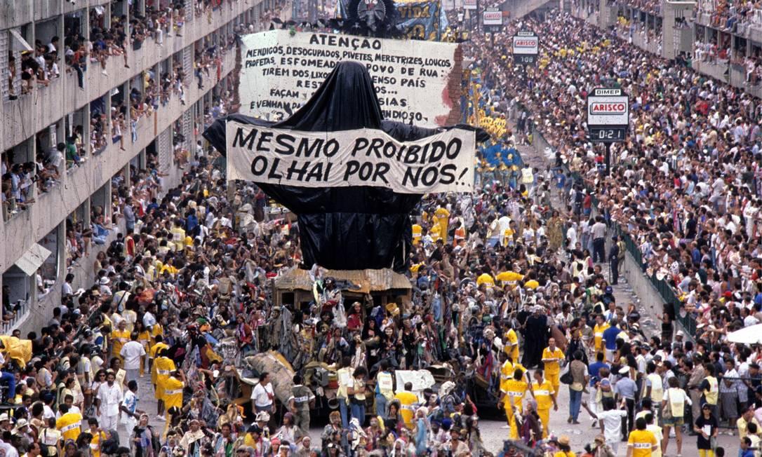 Nunca houve um abre-alas como o Cristo Mendigo Ricardo Leoni / Agência O Globo