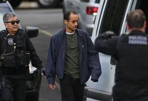 O empresário Marcelo Odebrecht ao ser transferido para o Complexo Médico-Penal de Pinhais em julho de 2015 Foto: Geraldo Bubniak/Divulgação/25-7-2015